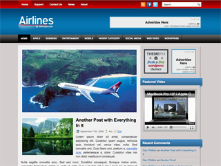 Airlines Free WordPress Theme