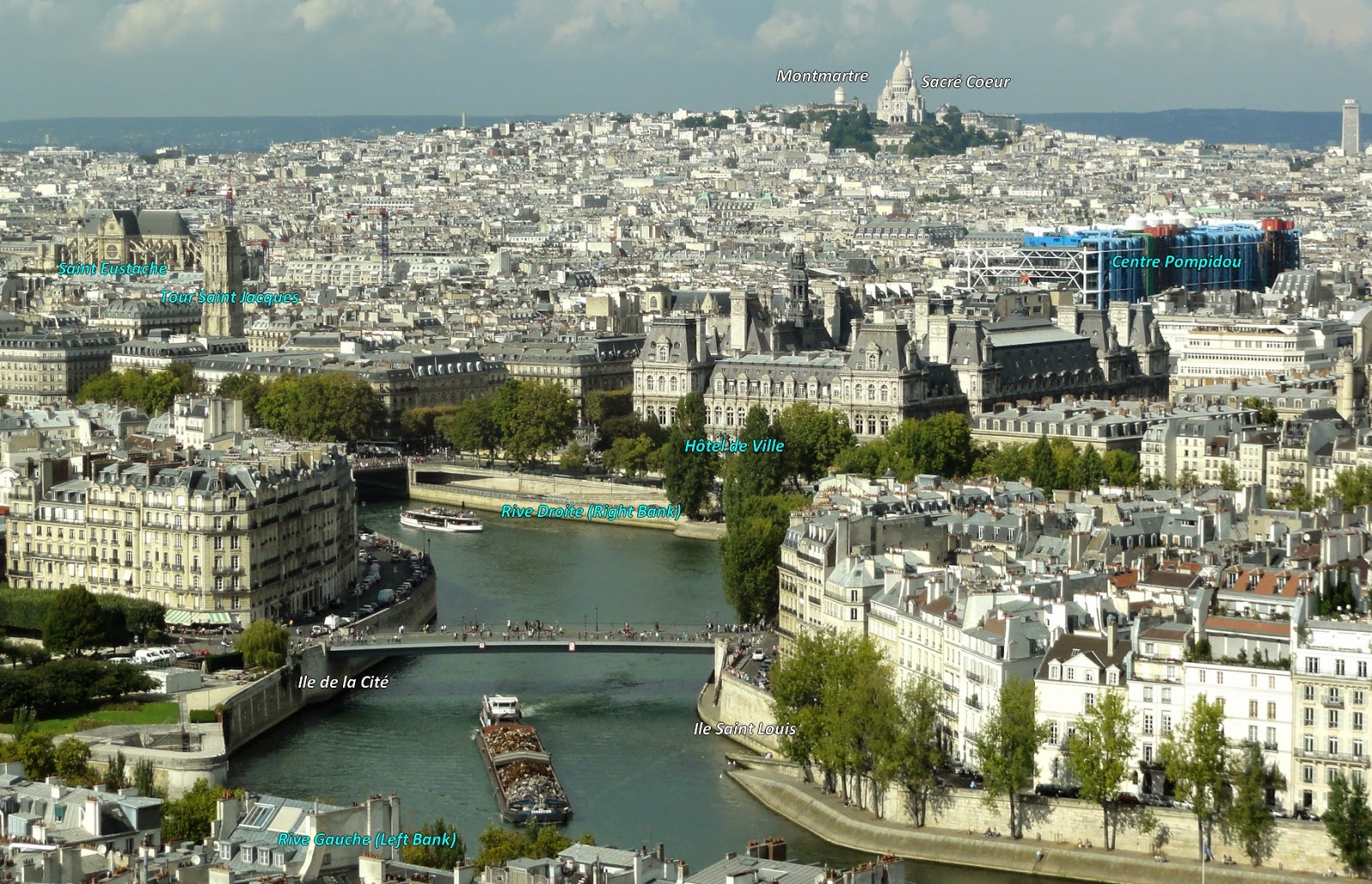 View on the North of Paris from