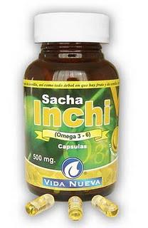Cápsulas de omega 3, Sacha Inchi