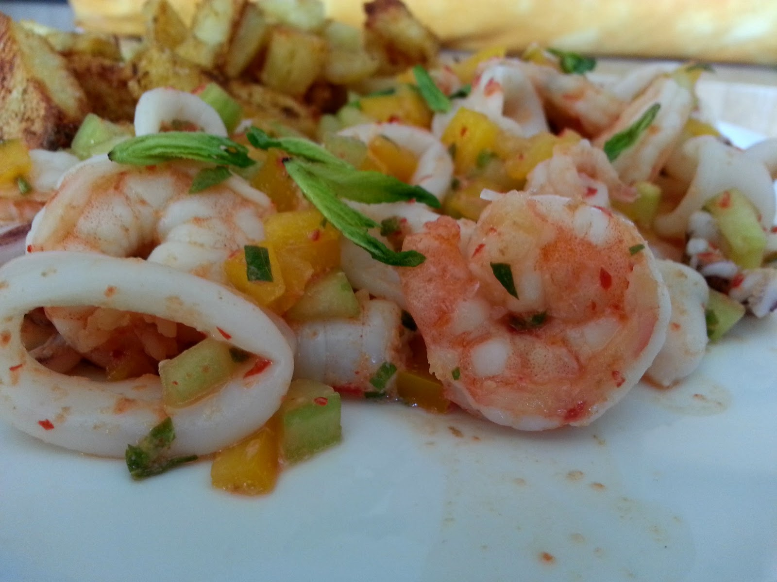 Spicy Shrimp And Cucumber Salad With Mint, Lemon, And Cumin Recipes ...