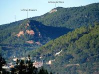 Zoom a la Penya Bruguera i a la Penya del Moro