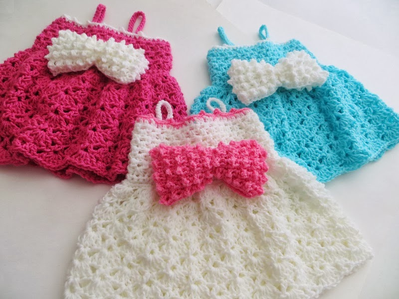 The Little Bow Peep Dress Crochet Baby Dress Pattern Sizes Newborn