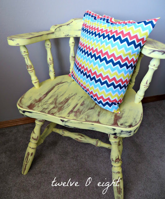homemade chalk paint chair makeover