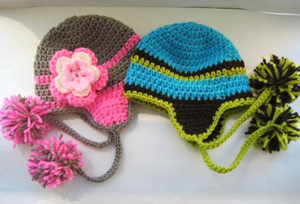 Free Crochet Pattern Toddler Hat Ear Flaps : Gallery For > Crochet Hats With Ear Flaps Free Patterns