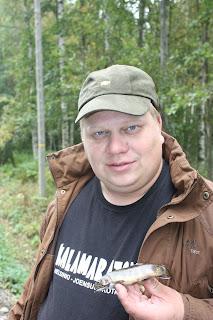 Markus sai elämänpisteekseen puronieriän pienestä purosta Hämeenlinnan seutuvilta.
