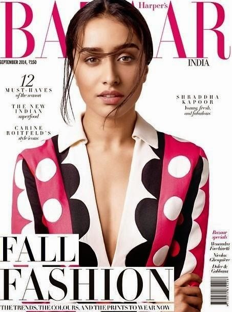 Shraddha Kapoor is the cover for Harper's Bazaar, India Sept 14