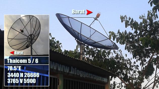 posisi lnb untuk satelit thaicom 5