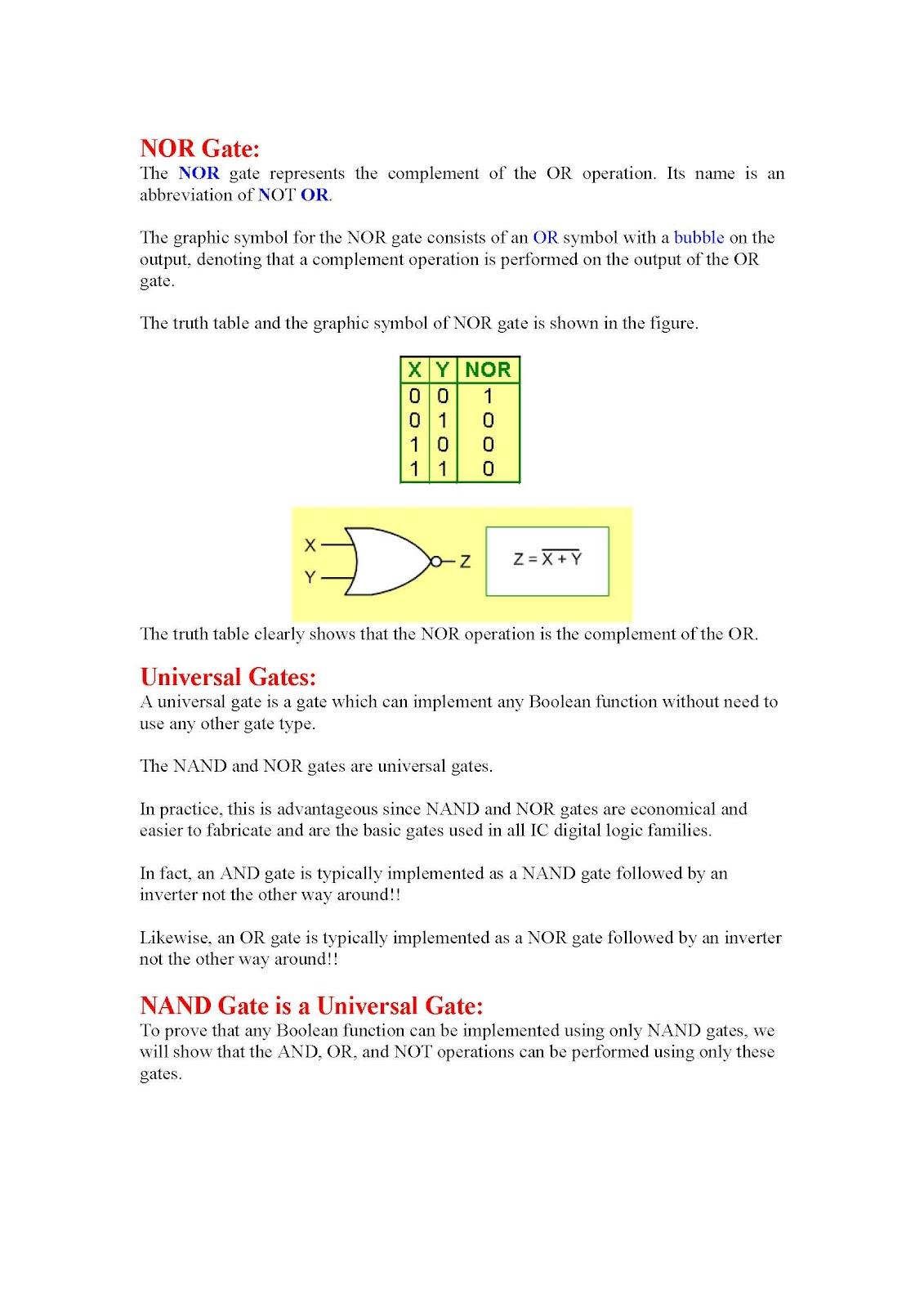 prove universal gates