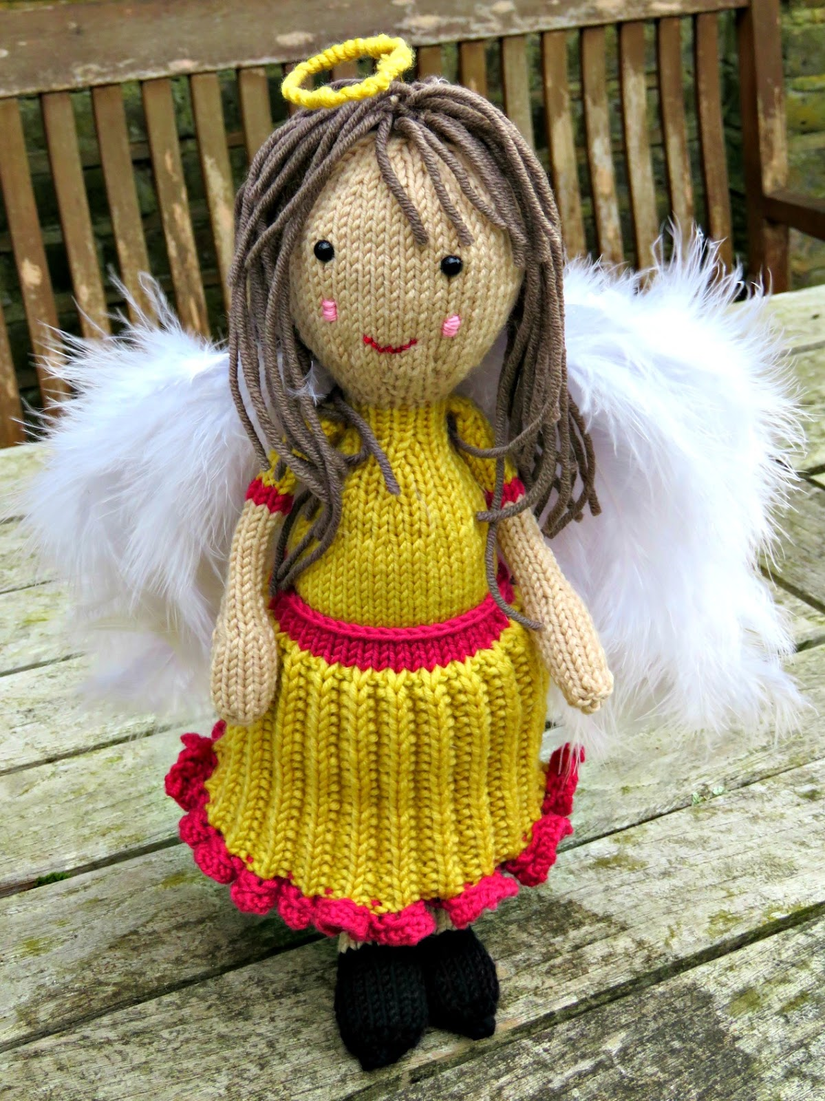 Knitting Pattern For Christmas Tree Angel : just saying ...: Handknit Christmas Tree Angel ...