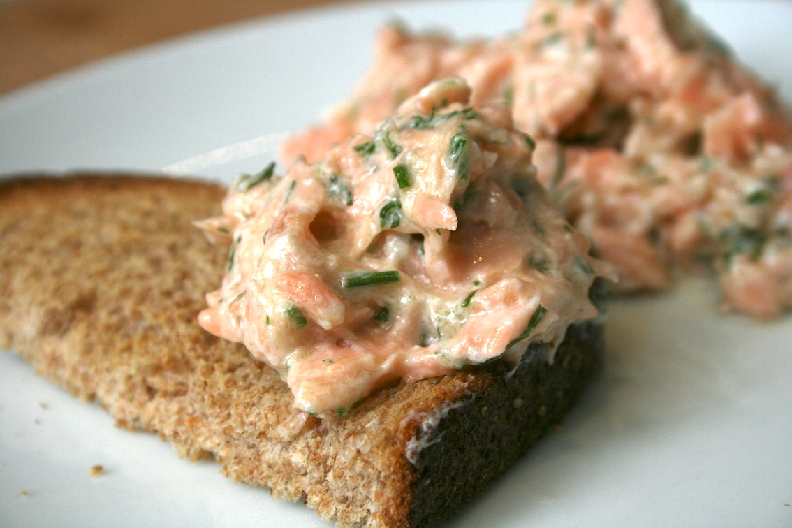 Poached Salmon Rillettes Cake Ideas and Designs