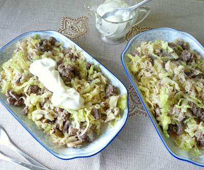 Pasta with the flavours of cabbage pierogis
