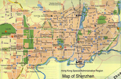 map of Shenzen China