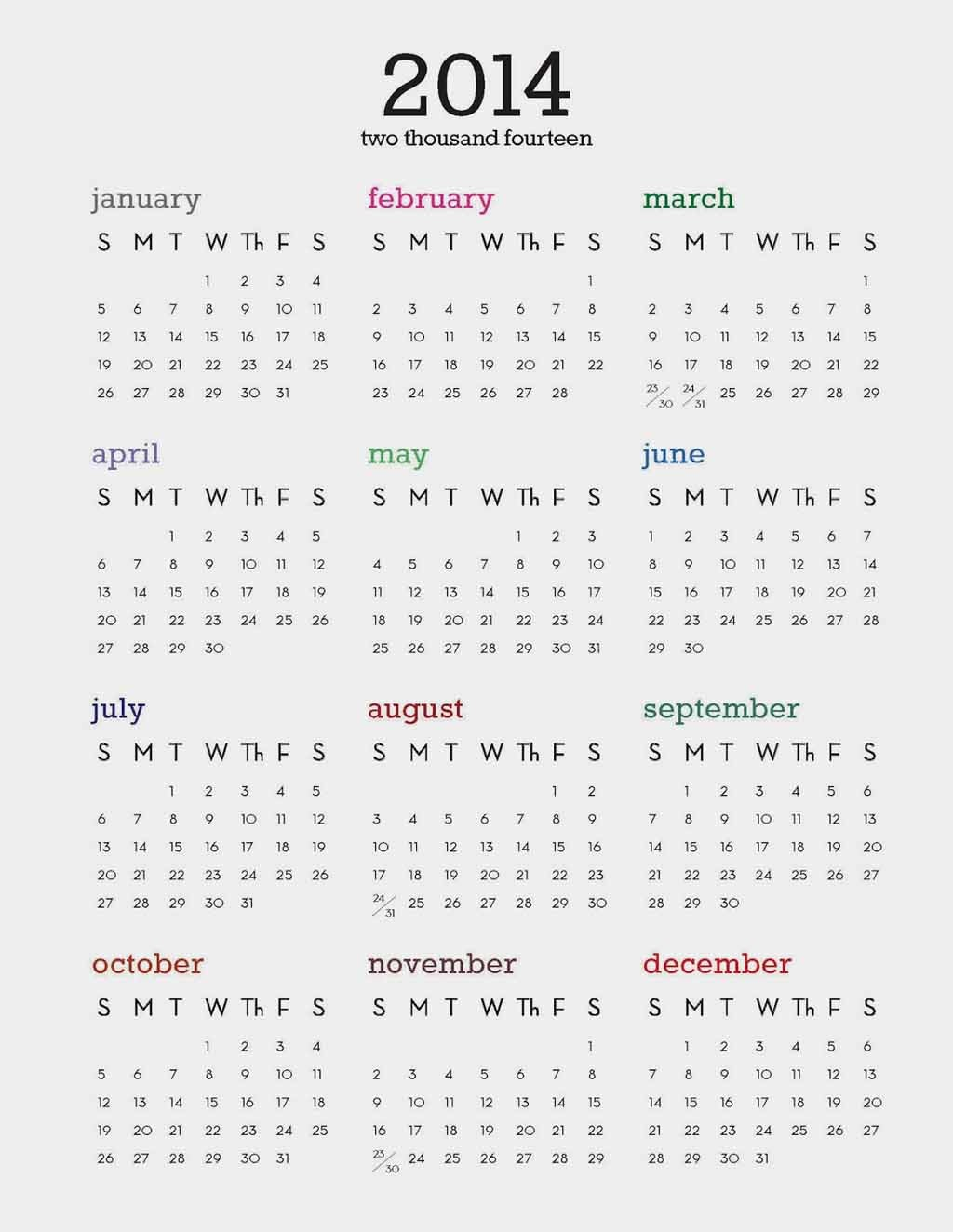 ... Calendar 2014: Free Desktop Calendar 2014 for Laptops & Desktop PC