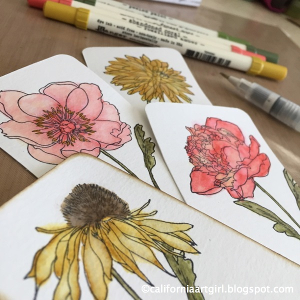 coloring with distress markers