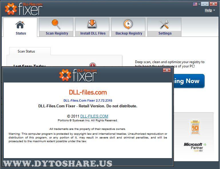 DLL-Files.com Fixer 2.7.72.2315 incl. Patch - (3,8 MB) Download | DLL