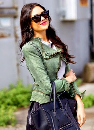 Gorgeous Jacket with blue bag