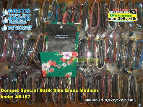 Dompet Special Batik Siku Emas Medium murah