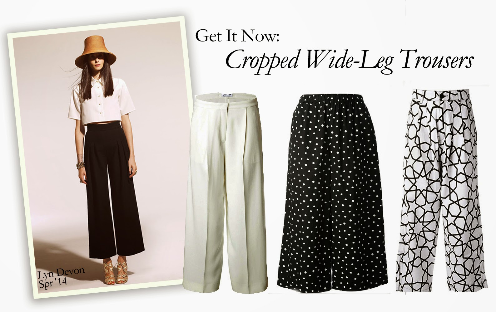 Get It Now: Cropped Wide-Leg Trousers