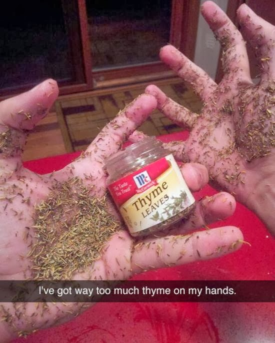 thyme, spice, kitchen funny, kitchen humor