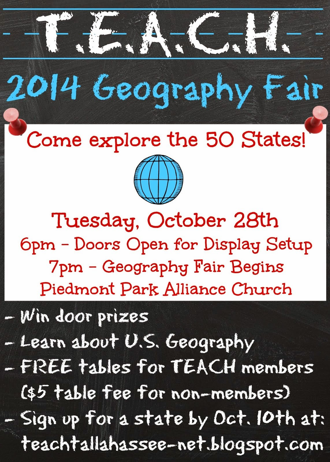 TEACH 2014 Geography Fair Info & Signup (Click Here)
