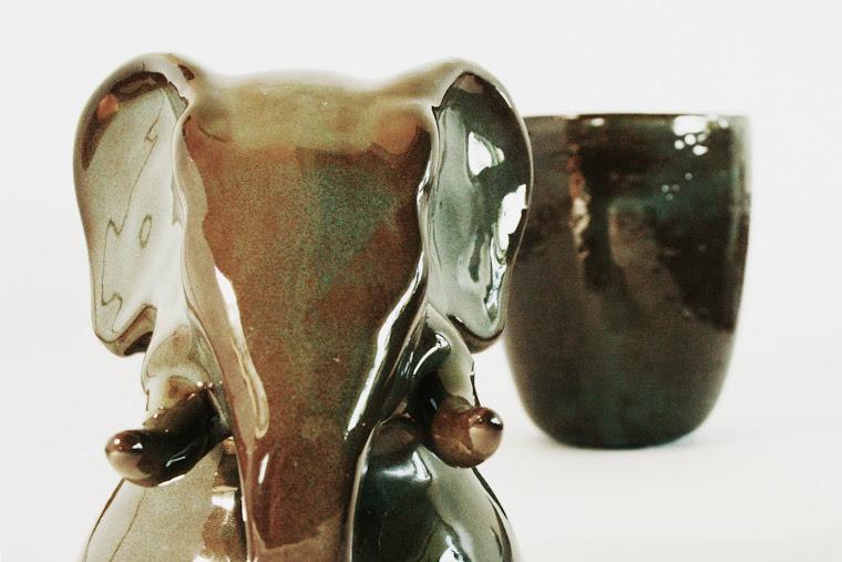 elephant canopic jar