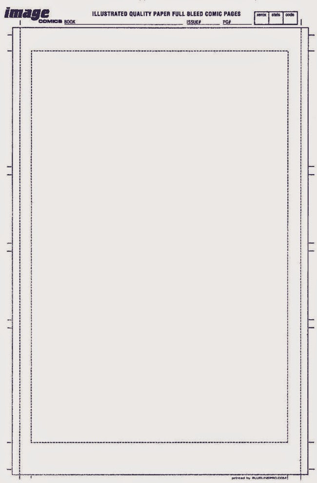 image comics standard page size