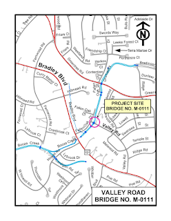 Valley Road Bridge Map
