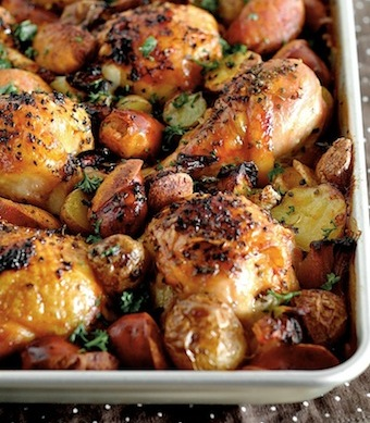 spanish chicken with chorizo and potatoes recipe