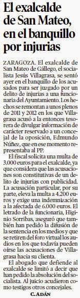 El blog de san mateo de g llego prensa del 23 de abril de - El tiempo en san mateo de gallego ...