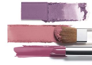 maquilhagem azul e violeta