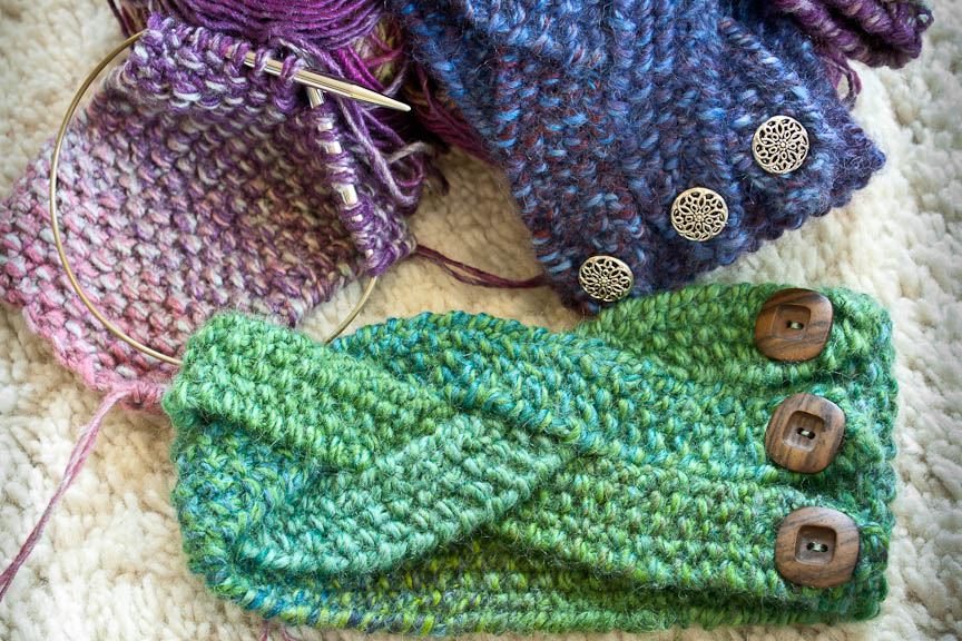 Winter Headband Knitting Pattern : Knit Nat: Chunky Braided Winter Headband