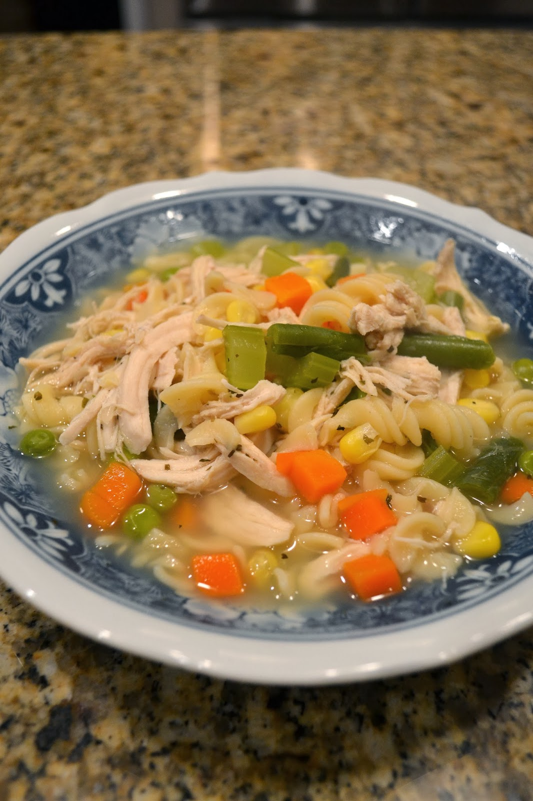 : homemade chicken noodle soup