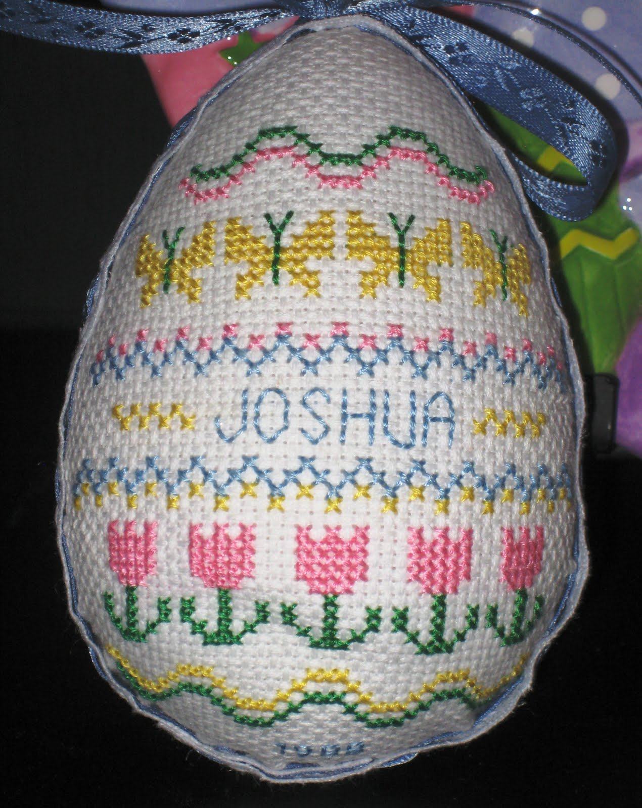 Green Eyed Girl Crafts Cross Stitch Easter Eggs