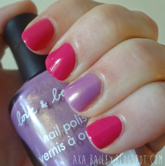 Fuchsia nails with orchid accent, Emma Stone's Met Gala 2014 outfit