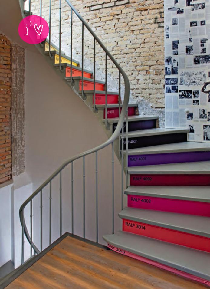 As cidades delgadas escada colorida - Pintura para escaleras ...