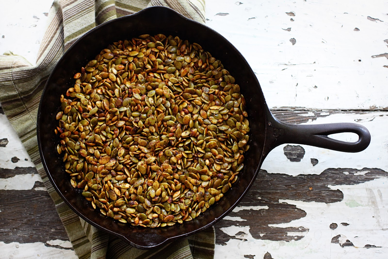 Today's Letters: {Whole30 Chili Roasted Pumpkin Seeds}