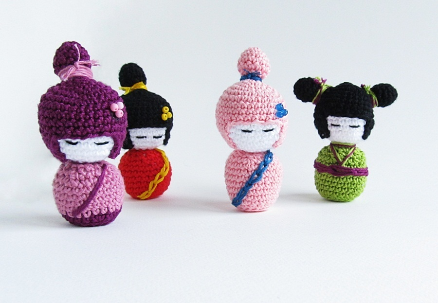 Amigurumi Rose Pattern Free : {Amigurumi Kokeshi Doll Pattern} - Little Things Blogged
