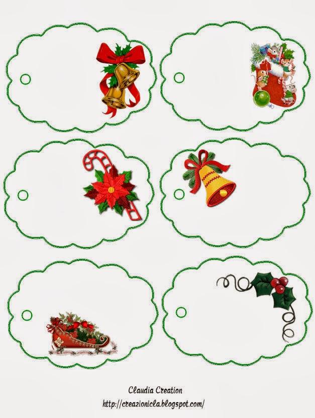 Para imprimir stickers para regalos de navidad - Tarjetas con motivos navidenos ...