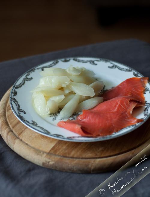 Der leichte Spargelsalat mit Lachs