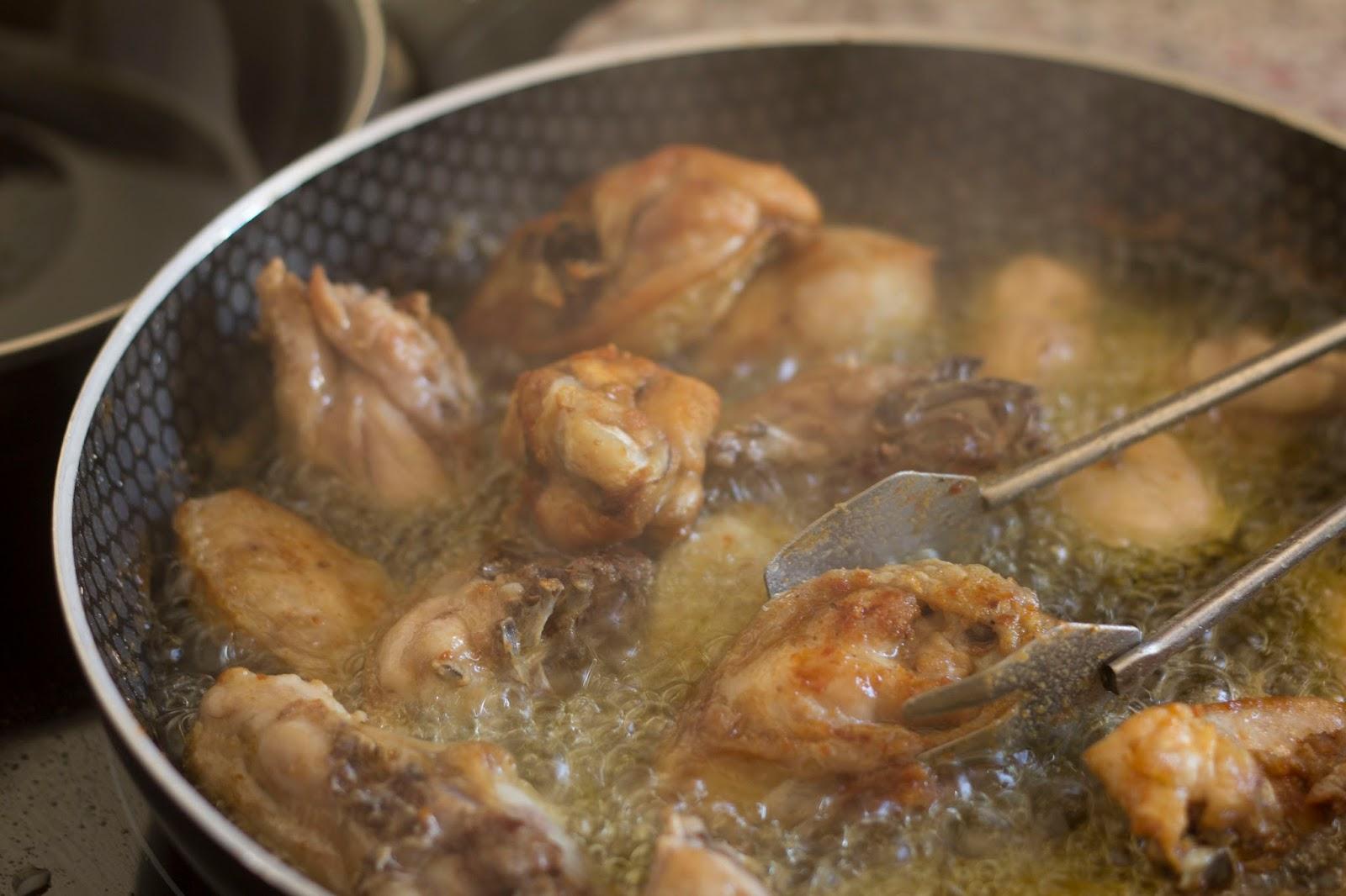 Pollo al ajillo receta tradicional 2mandarinas en mi cocina - Cocinar pollo al ajillo ...