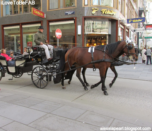 Shopping and carriages, Vienna