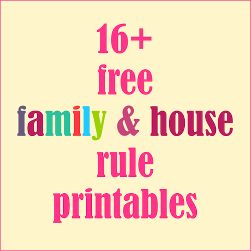 ☞ ☞ Over 16 free printable family posters and family rule