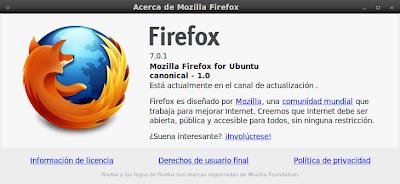 Imagen de Firefox 7.0.1 en Ubuntu 10.04