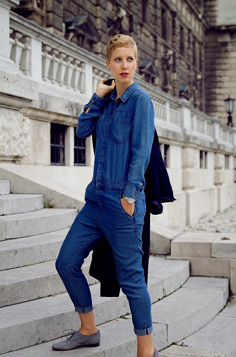 denim jumpsuit h&m denim conscious collection beeswonderland