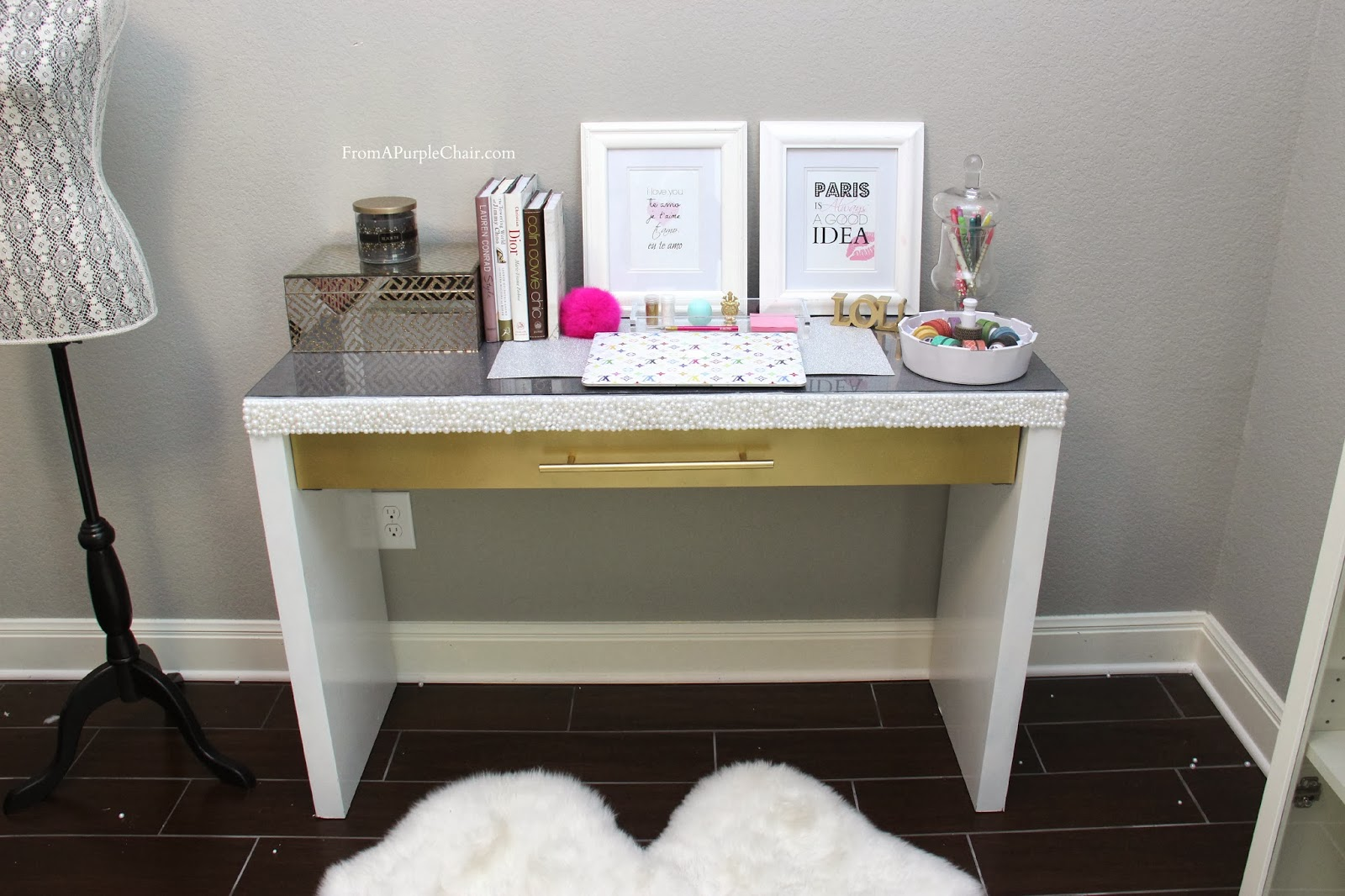 White And Gold White And Gold Vanity