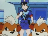 Oficial Jenny con sus Growlithe