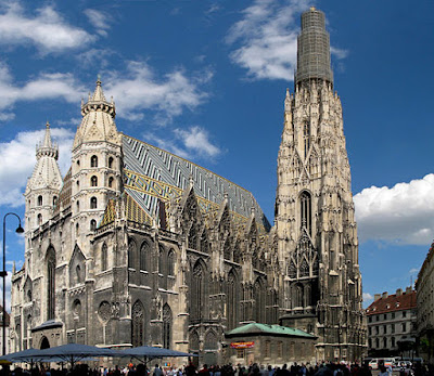 """0181-0183a - Wien - Stephansdom"" by Andrew Bossi - Own workThis panoramic image was created with Autostitch.Stitched images may differ from reality.. Licensed under CC BY-SA 2.5 via Wikimedia Commons - https://commons.wikimedia.org/wiki/File:0181-0183a_-_Wien_-_Stephansdom.jpg#/media/File:0181-0183a_-_Wien_-_Stephansdom.jpg"