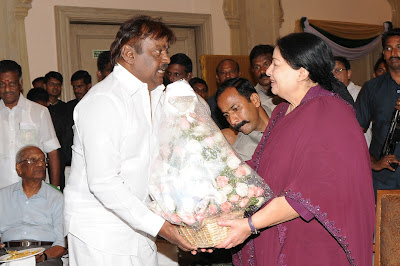 Tamilnadu CM Jayalalitha and Vijayakanth at Celebration Party