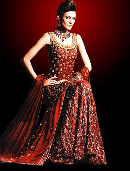 Pakistani Bridal Winter Red Dresses Designs