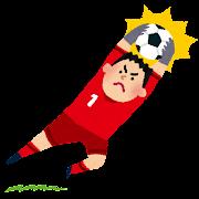 ボールをキャッチするゴールキーパーのイラスト(サッカー)
